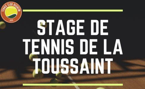 Stage Tennis Automne